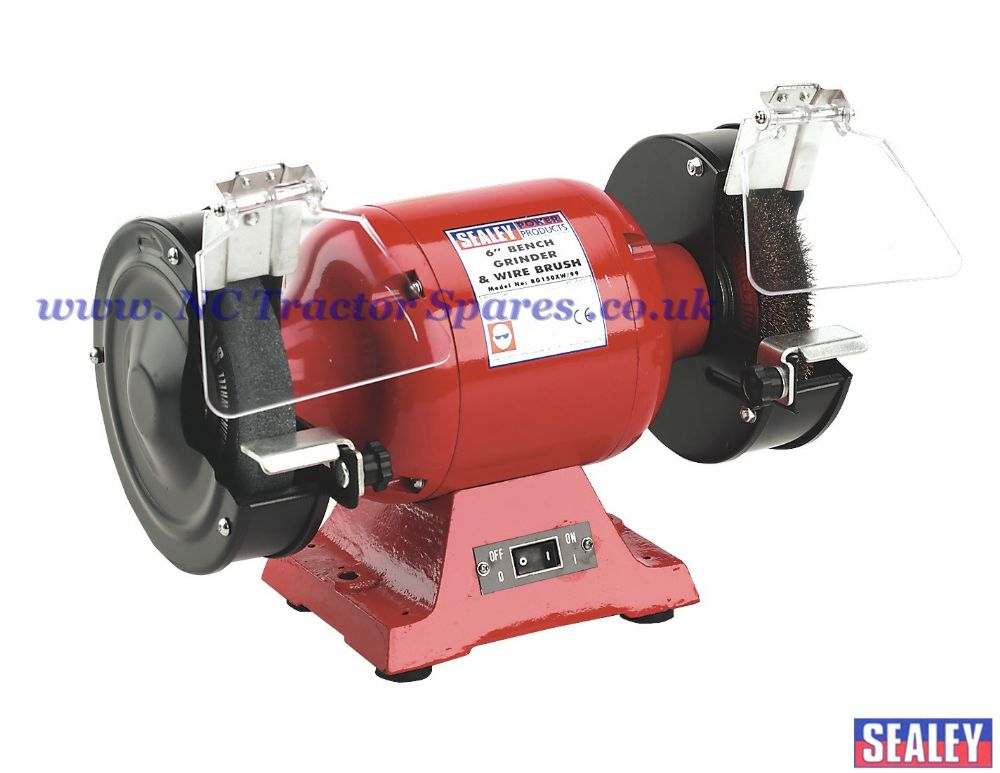 Bench Grinder 150mm With Wire Wheel 450w 230v Heavy Duty